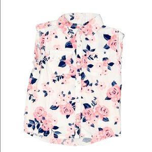 Carter's Short Sleeve Cotton Snap Front Shirt